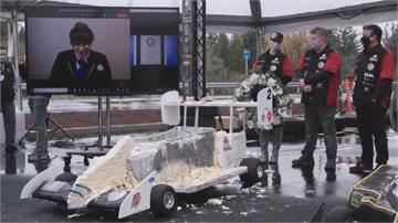 蛋糕賽車開上路 能吃又能跑創世界紀錄