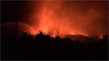 疑燒雜草不慎 綠島火燒山4公頃