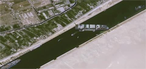 長賜號續卡運河 當局宣布暫停運河通航