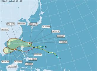 快新聞/東北風增強今晚明晨低溫可見1字頭 閃電颱風滯留打轉路徑不確定性大