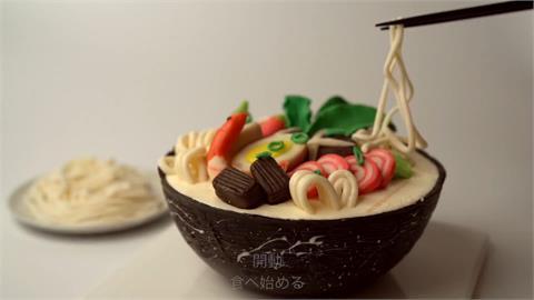 拉麵or蛋糕?小孩才做選擇 甜點職人連「碗筷」全都要吃下肚