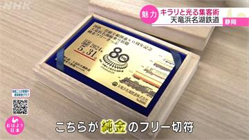 靜岡「天龍濱名湖鐵道」80周年推「純金」定期票