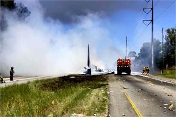 美空難意外/美軍用運輸機墜毀 5機組員罹難