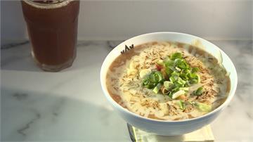 台灣鹹粥吹韓風?結合泡菜、起士 味道香濃