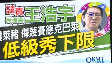 藍批用賽德克巴萊影射萊劑 王浩宇:網路說法沒有歧視