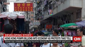 外媒:貧富差距助燃示威 港府灑銀彈挽民心