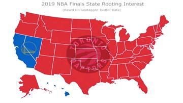 NBA/看勇士奪冠膩了?美國47洲球迷一面倒挺暴龍