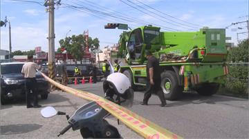 只是出門買早餐...孕婦騎車遭撞 2歲女童噴飛慘遭吊車輾斃