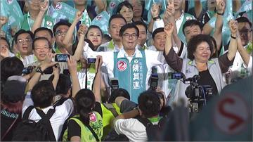 綠營巨頭力挺陳其邁 造勢湧入10萬人