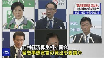日本疫情竄升 五縣市籲發緊急事態! 去年四月發布過 一度發揮防疫效力