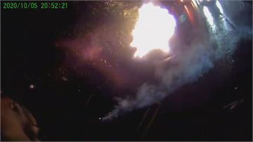 汐止1萬伏特電線起火爆炸 竟是樹木惹的禍?
