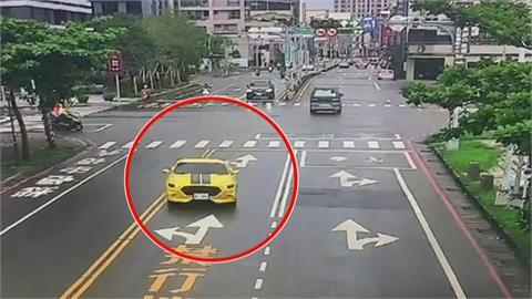 野馬超跑跨越雙黃線 逆向狂飆嚇壞用路人