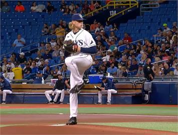 MLB/光芒巴茲大聯盟初登板好投 力壓藍鳥王牌奪首勝