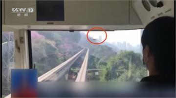 中國民眾搶拍盛開梅花 無人機竟撞上輕軌列車