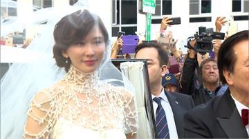 五套婚紗驚艷粉絲!林志玲如女神降臨台南