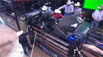 職業騎牛大賽賭城站 騎士遭狠摔過程驚險