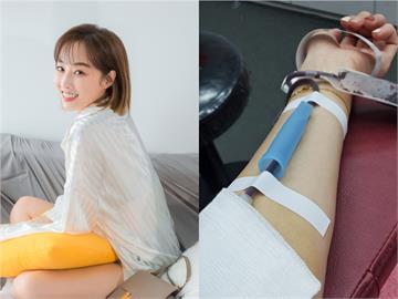 血庫告急!夏語心捐血照驚見「亮點」 健保卡曝光本名:好瓊瑤