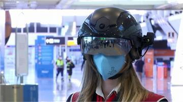 一掃即知!義大利智慧頭盔7公尺內量測體溫