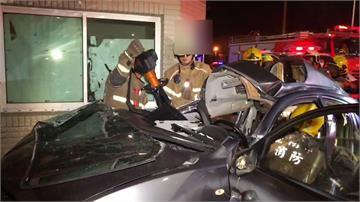 無照又超載 轎車失速撞警衛室6人傷重不治