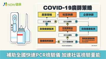 50台PCR快篩加速社區檢驗 分區降級陳時中說不排除