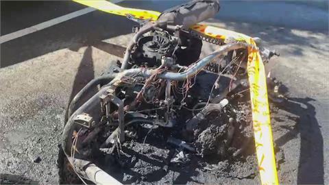 命大! 機車被撞燒成火球 騎士拋飛重摔救回一命