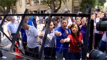 監察院人事將投票!藍委糾團考察「拒馬」駐院警掌握一舉一動