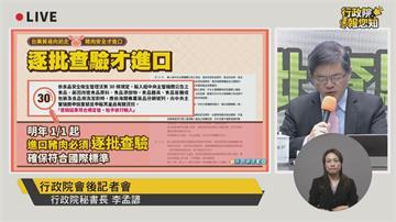 快新聞/進口萊豬「5大措施」出爐含赴美查廠、新增貨號 政院:最高重罰2億