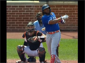 MLB/小葛雷諾44轟追平大谷翔平 藍鳥狂掃22分勝金鶯