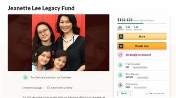 「黑寡婦」珍娜李癌末 親友上網助籌三女兒教育費