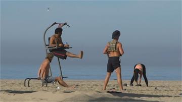 疫情影響 戶外運動夯街頭健身、水上瑜伽大流行