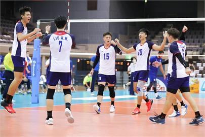 台灣男排連過2關 晉級亞錦賽8強機會大