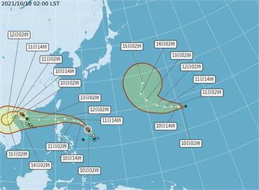 快新聞/洋面同時3顆颱風! 第19號輕颱「南修」生成、氣象局估對台無直接影響