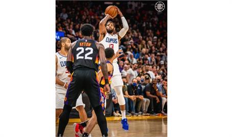 NBA/喬治季後賽生涯新高41分 快艇西區決賽勝太陽