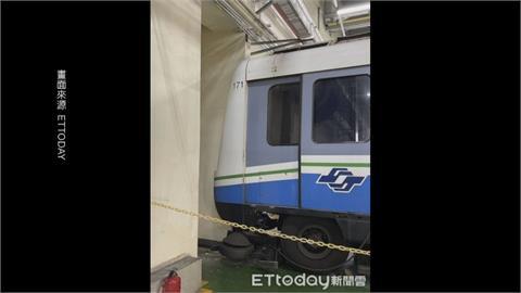 北捷列車維修突移動 撞碎車頭玻璃幸無人傷