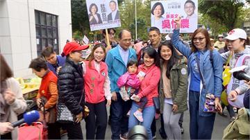 列民進黨不分區後首次現身!游錫堃為吳怡農助選