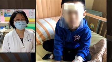 超用心!連小朋友都照顧到 醫護加班特製面罩供使用