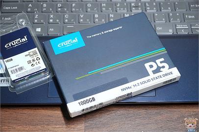 讓電腦效能再進化 美光 Crucial P5 1TB M.2 2280 PCIe SSD固態硬碟 開箱 評測