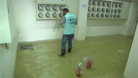 台中大里區復水「自來水爆管」 社區地下室淹水至82公分高!