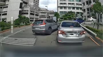 過分! 榮總停車場爆插隊 女駕駛拍窗理論