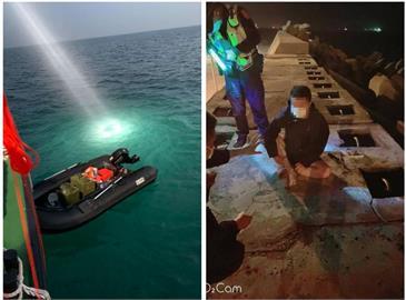 一艘橡皮艇「衝過」台灣海峽!福建男台中港遭逮:到台灣投奔自由