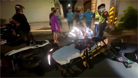 騎士違規拒檢逃逸 警民追逐釀摔車