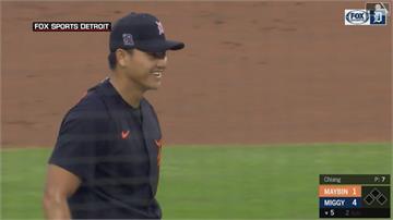 MLB/ 張育成替補敲二壘安打 江少慶可當假先發