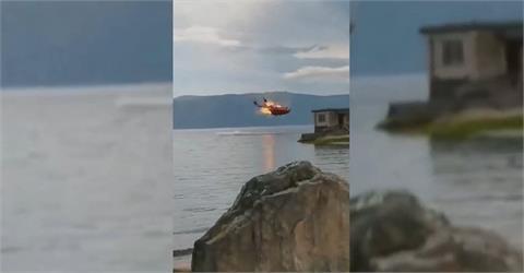 快新聞/驚!中國直升機空中突爆炸 1名傷員緊急送醫