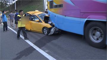 國道五車連環撞!8人受傷送往義大醫院