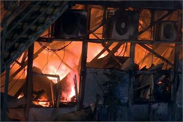 林口火力發電廠旁辦公室惡火 一度延燒員工宿舍