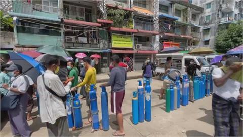 緬甸單日新增確診屢創新高 仰光.曼德勒「大缺氧」