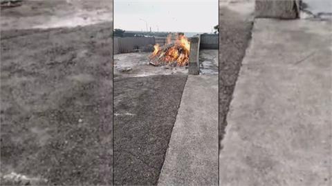 為所欲為有靠山? 廟宇常在空地亂燒金紙 鄰居怨灰燼滿天飛