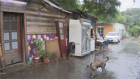璨樹颱風從台灣尾一路往北 路上水坑越積越深