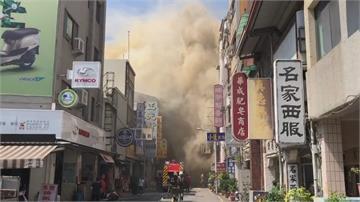 台南知名美食聖地「水仙宮市場大火 」焦黃濃煙狂竄! 一度誤傳廟會放炮釀禍