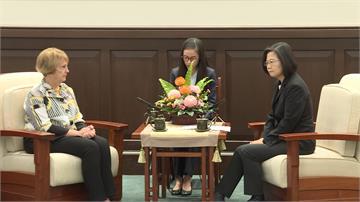 接見美國外委會談台北法案 蔡總統:台美將繼續加強合作